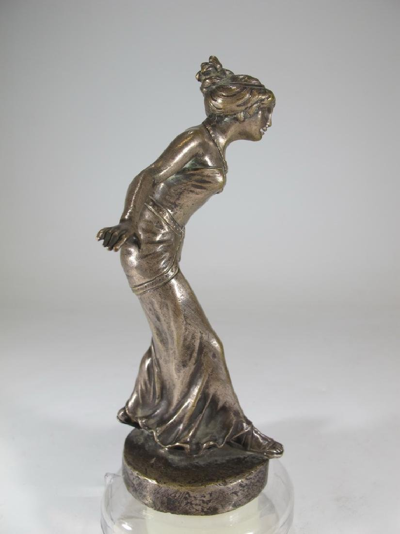Henry FUGÈRE (1872-1944) silverplated on bronze car - 7