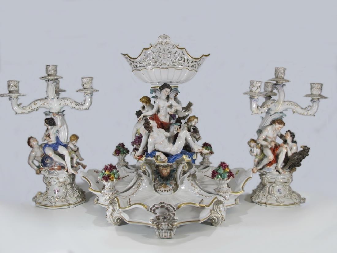 Amazing Antique German Volkstedt porcelain set