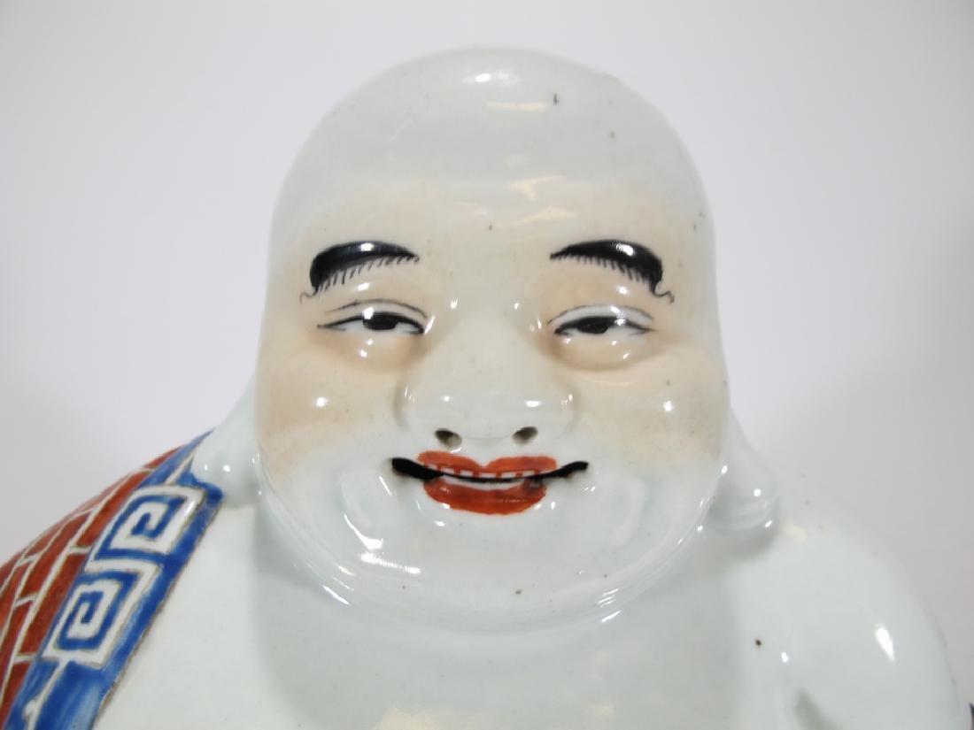 Antique Buddha porcelain statue, signed - 2