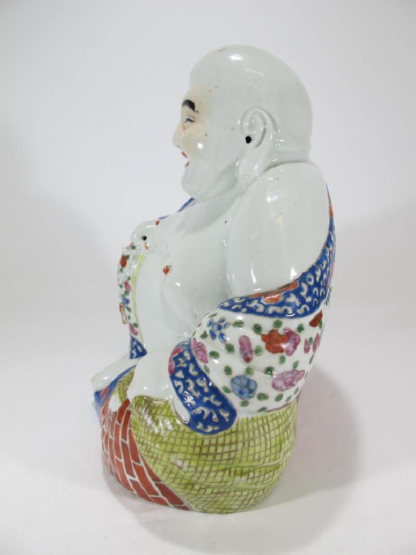 Antique Buddha porcelain statue, signed - 4