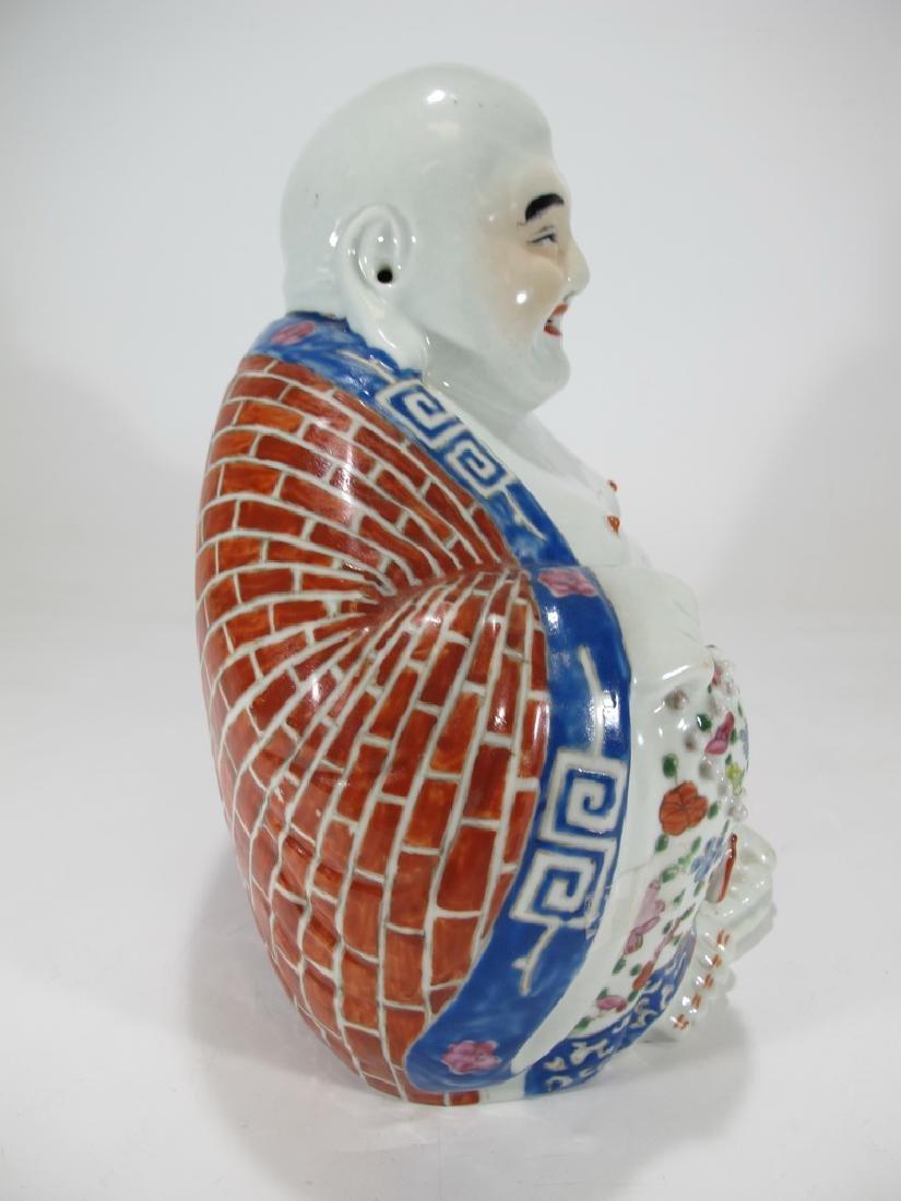 Antique Buddha porcelain statue, signed - 6