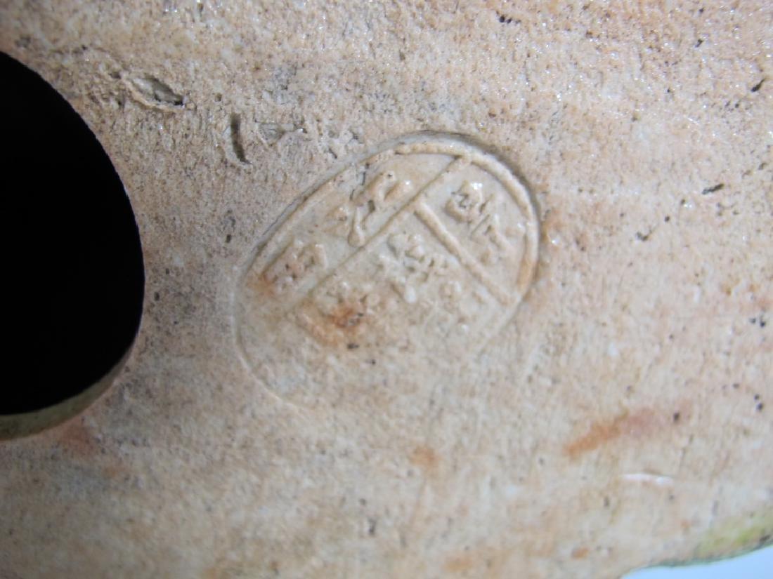 Antique Buddha porcelain statue, signed - 8