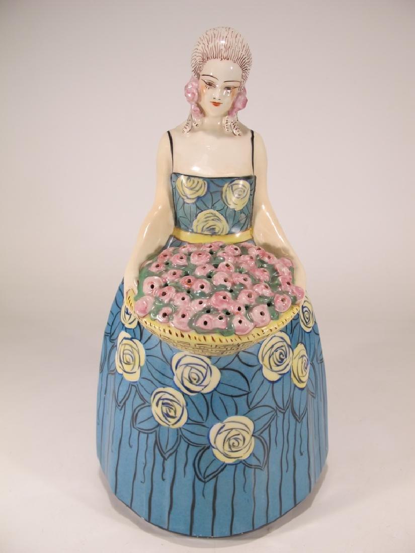 French Art Deco Aladin Porcelain Figural Lady