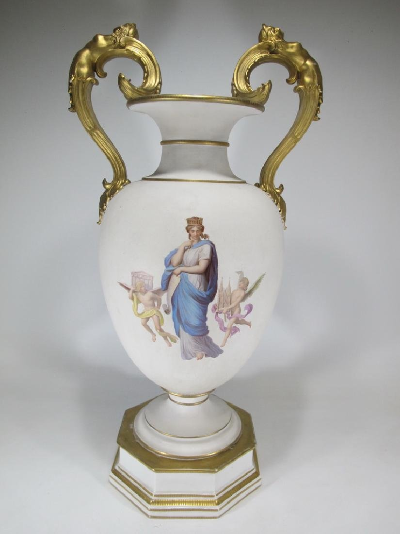 Antique German KPM porcelain urn