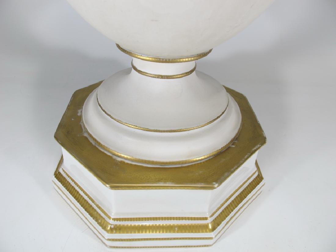 Antique German KPM porcelain urn - 5