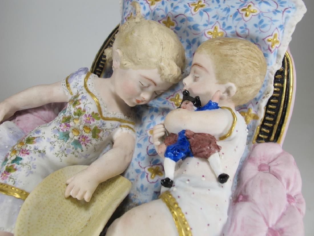Antique German bisque kids statue - 6