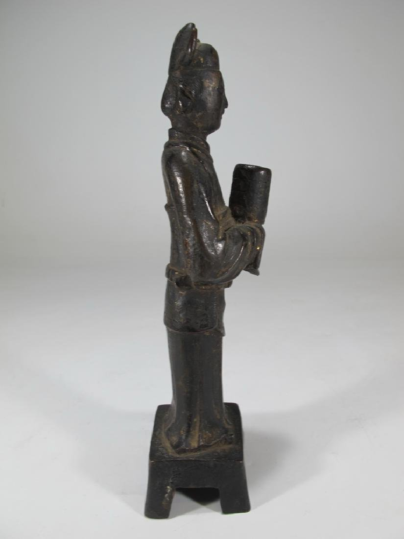 Antique Oriental woman bronze statue - 3