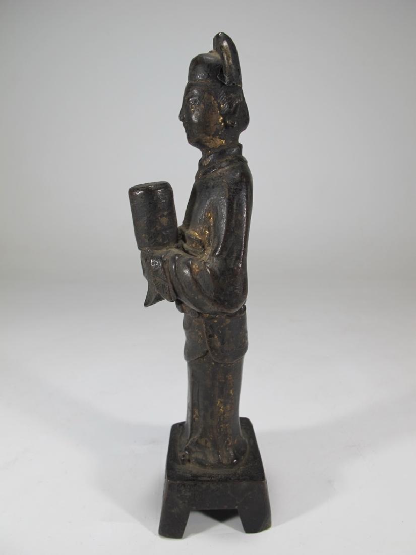 Antique Oriental woman bronze statue - 5