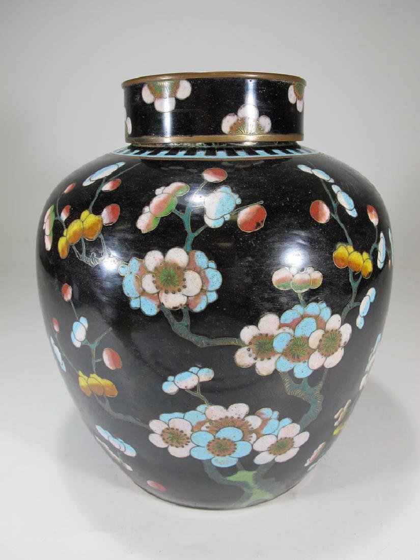 Antique Chinese cloisonne jar
