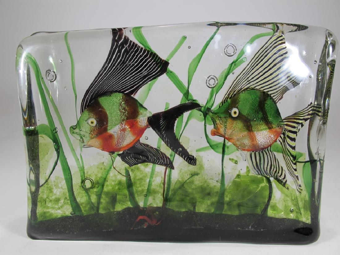 Vintage Italian Murano glass aquarium sculpture