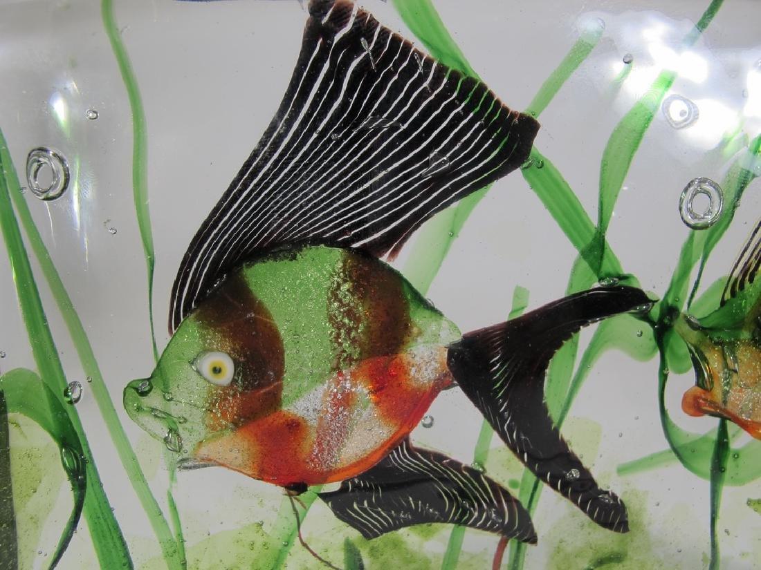 Vintage Italian Murano glass aquarium sculpture - 2