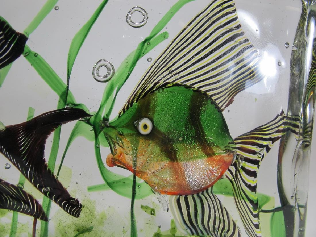 Vintage Italian Murano glass aquarium sculpture - 3