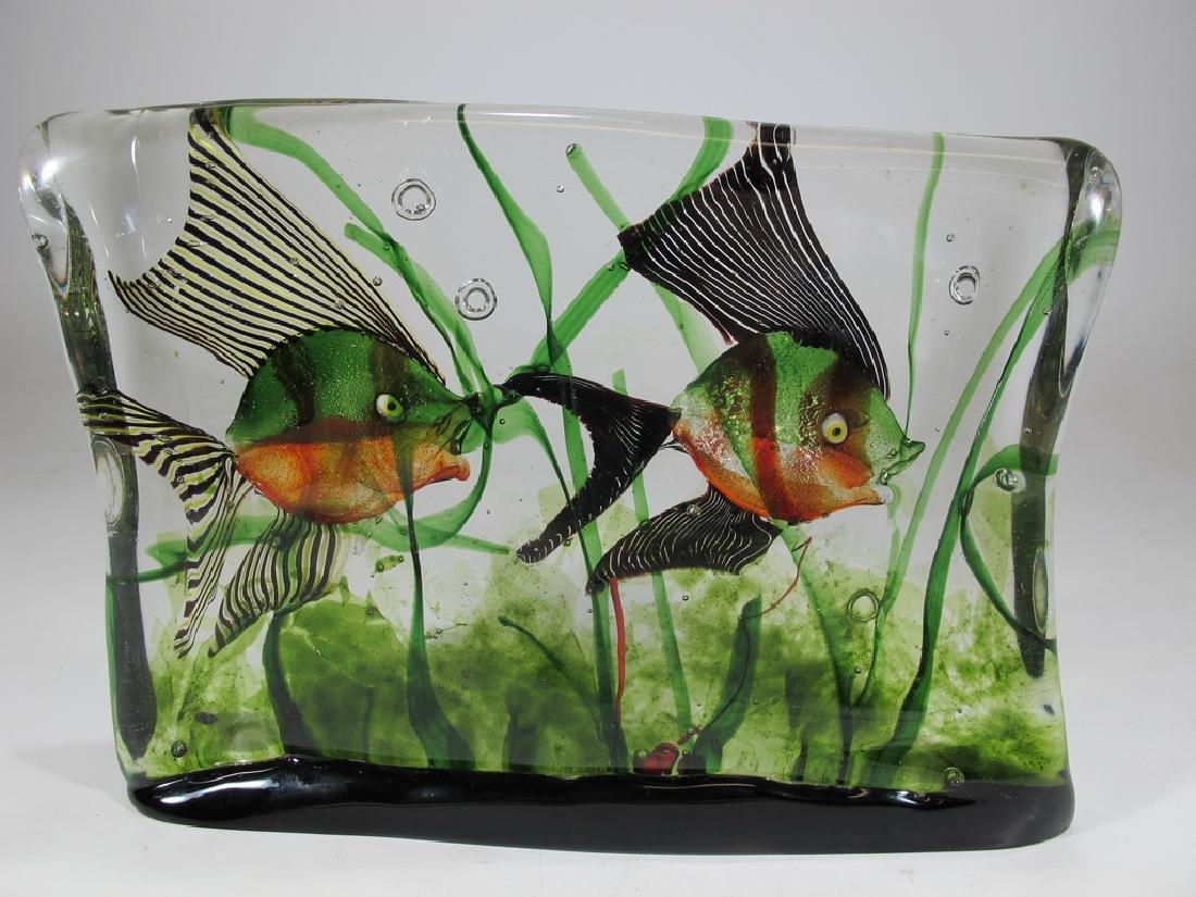 Vintage Italian Murano glass aquarium sculpture - 5