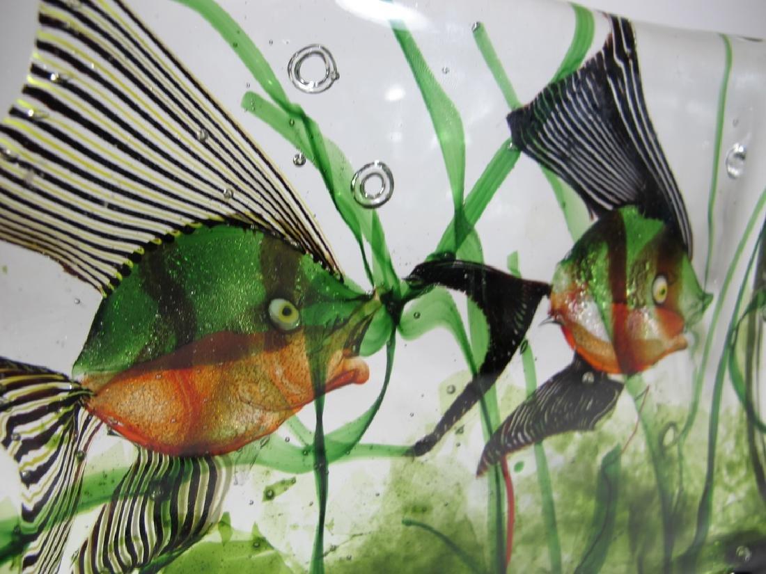 Vintage Italian Murano glass aquarium sculpture - 7
