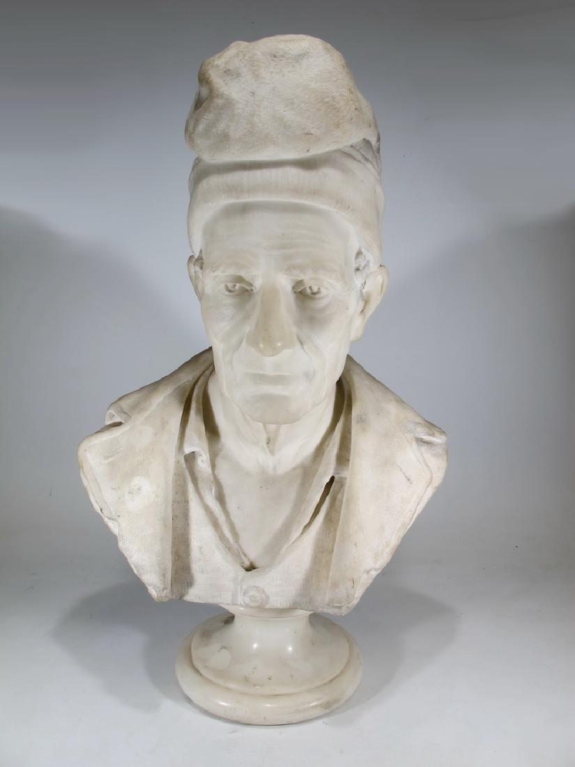 Signed F. FABIANI, Genova, Italy marble bust