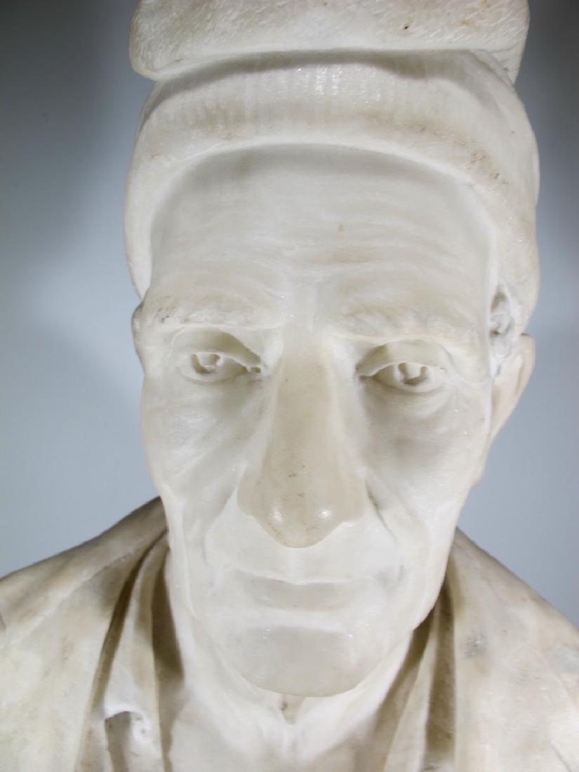 Signed F. FABIANI, Genova, Italy marble bust - 2