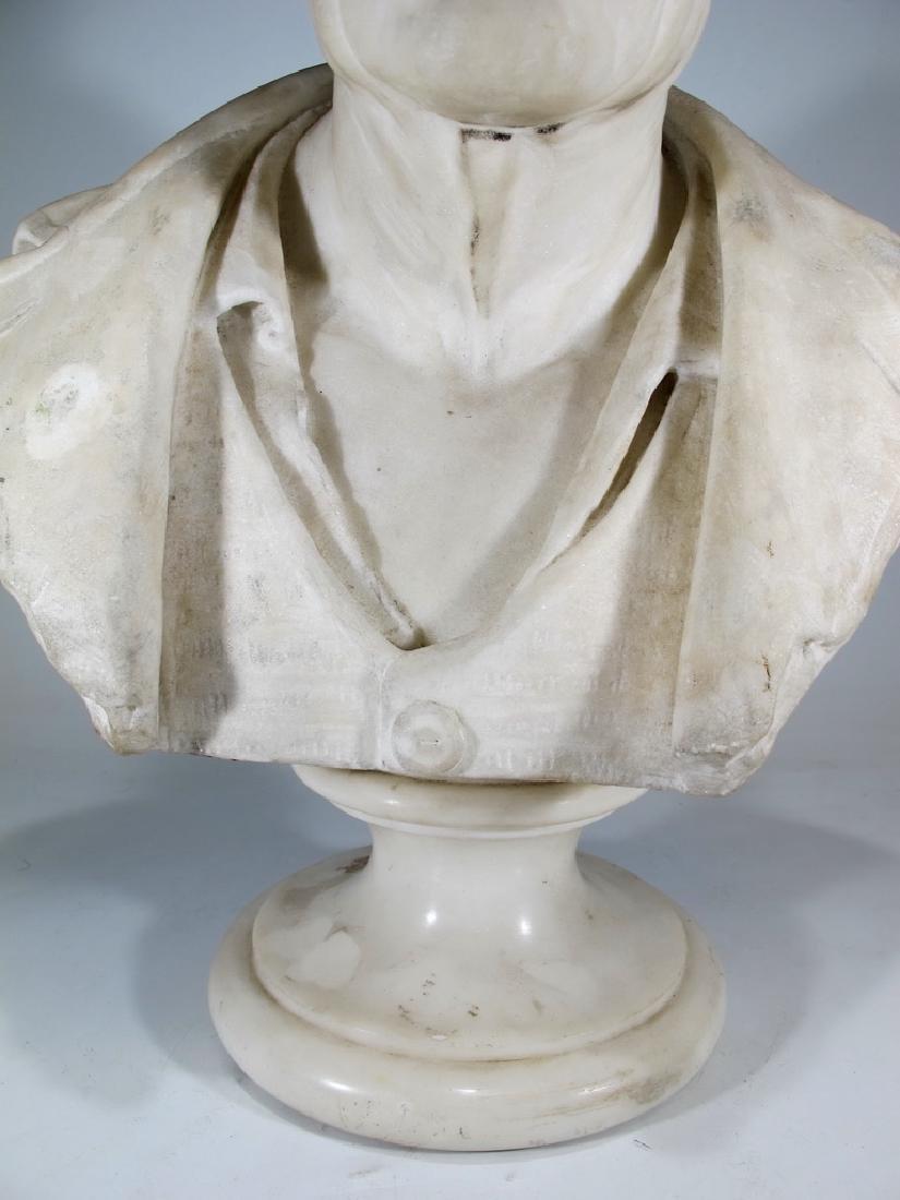 Signed F. FABIANI, Genova, Italy marble bust - 3