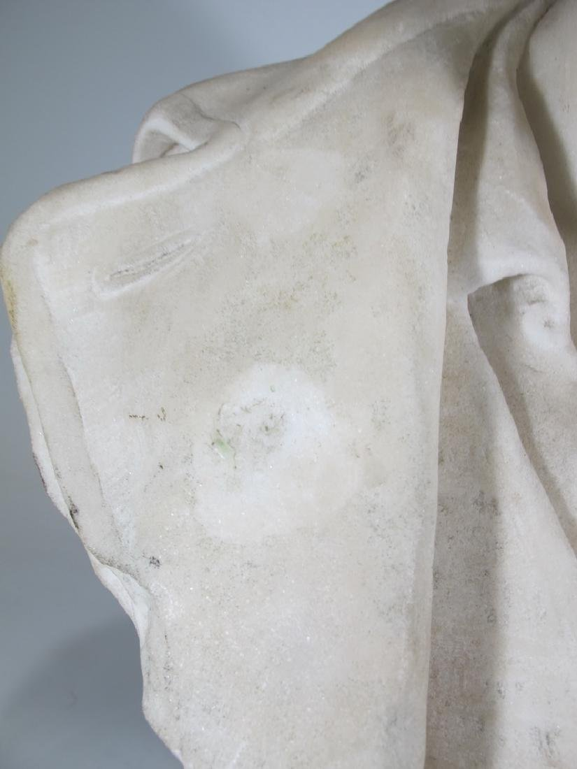 Signed F. FABIANI, Genova, Italy marble bust - 4