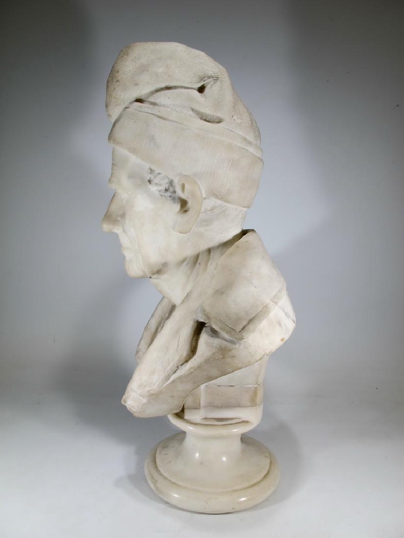 Signed F. FABIANI, Genova, Italy marble bust - 5