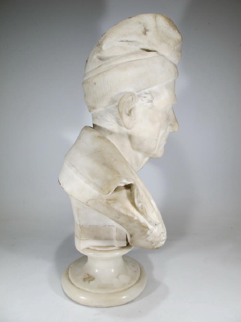 Signed F. FABIANI, Genova, Italy marble bust - 8
