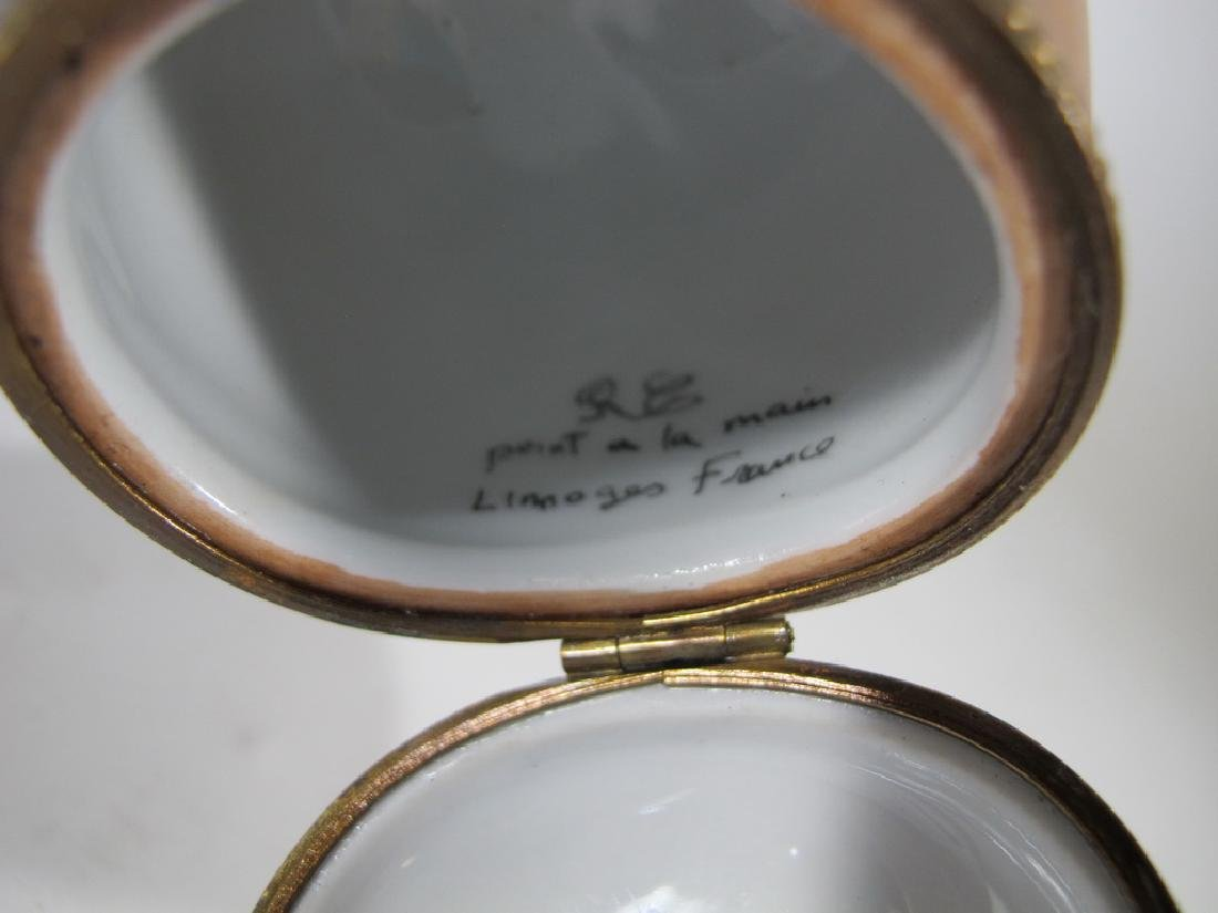 Vintage Limoges penis phallus porcelain box - 4