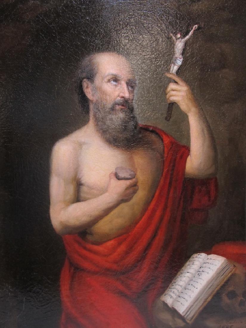 19th C European oil on canvas, Luis CADENA (1830-1889) - 2