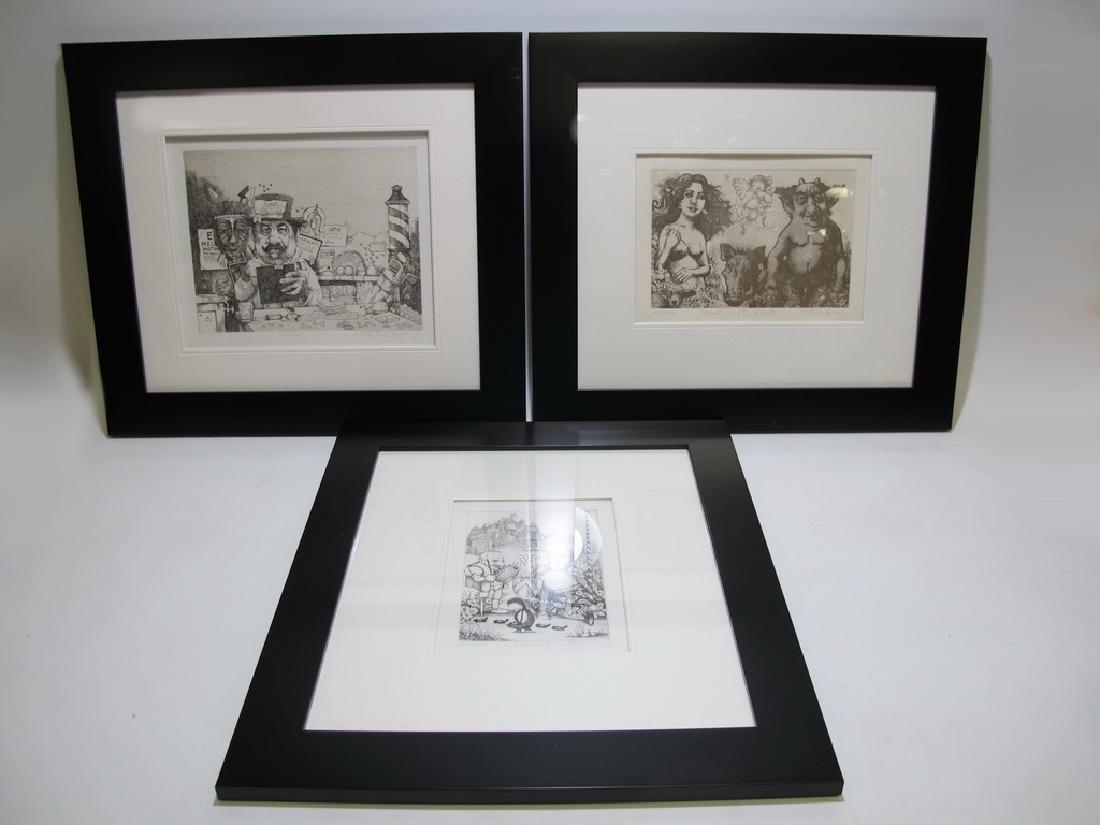 Charles BRAGG (1931-2017) 3 engravings