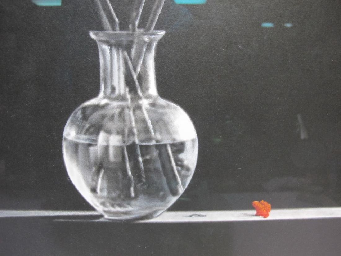 Willis Vega white pencil on black drawing - 3
