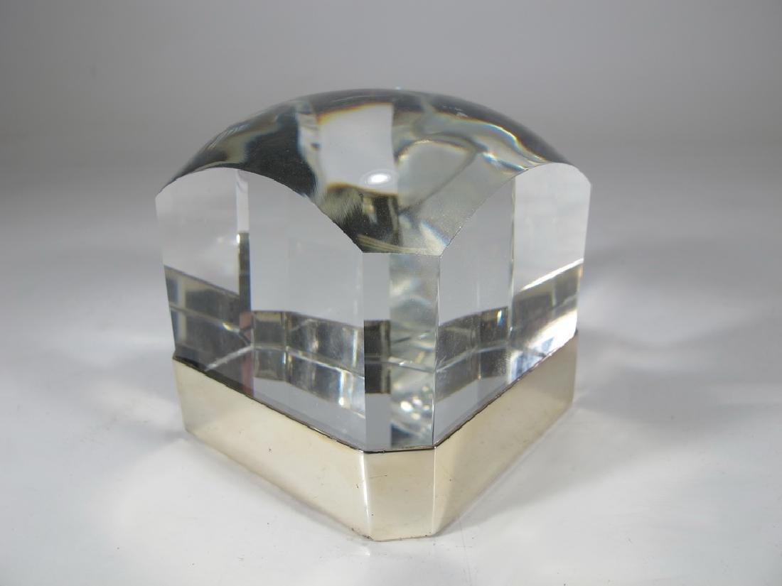 Ralph Lauren metal magnifying square lens
