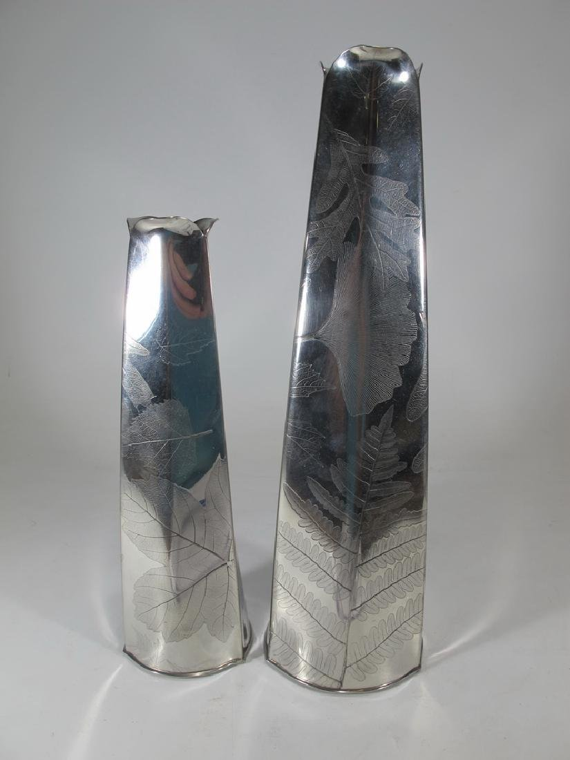 2 hand crafted pewter vases by Ron Kusins Cape Cod