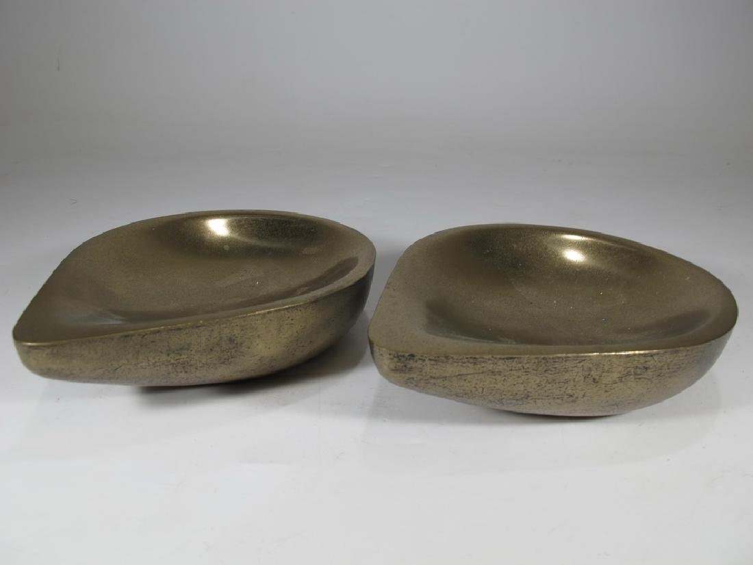 Pair of Haulenbeek Holly Hunt bronze sculptures