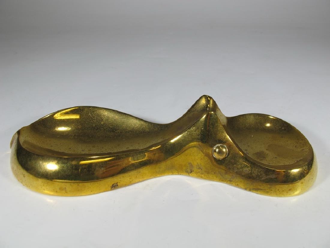 Jonathan Adler, India solid bronze swimming hipo dish