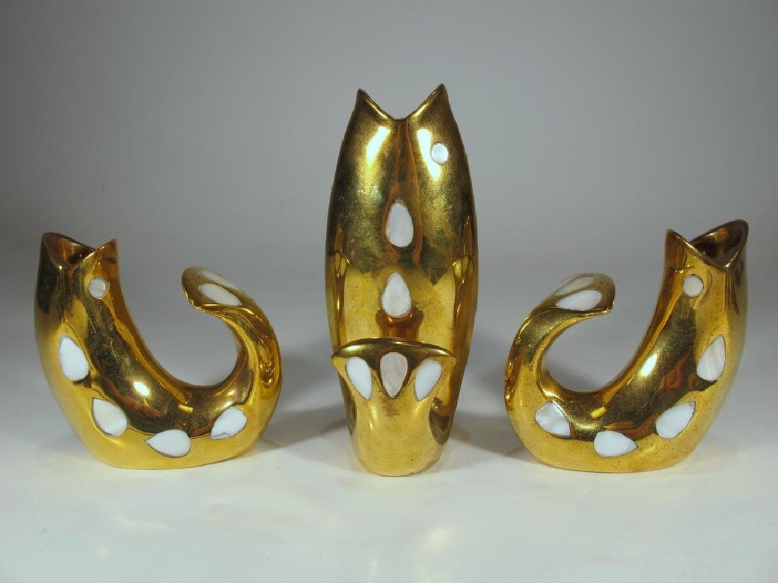 Jonathan Adler, India solid bronze candlestick set