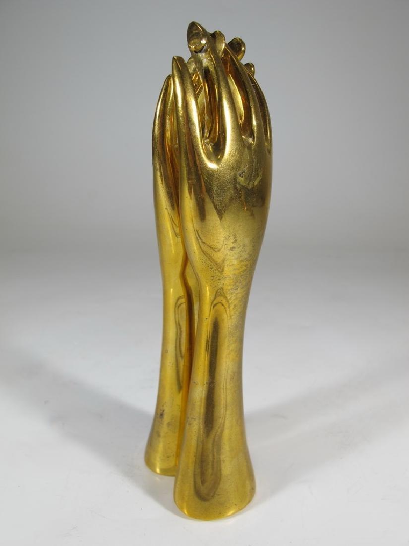 Jonathan Adler, India solid bronze hands nutcracker - 2