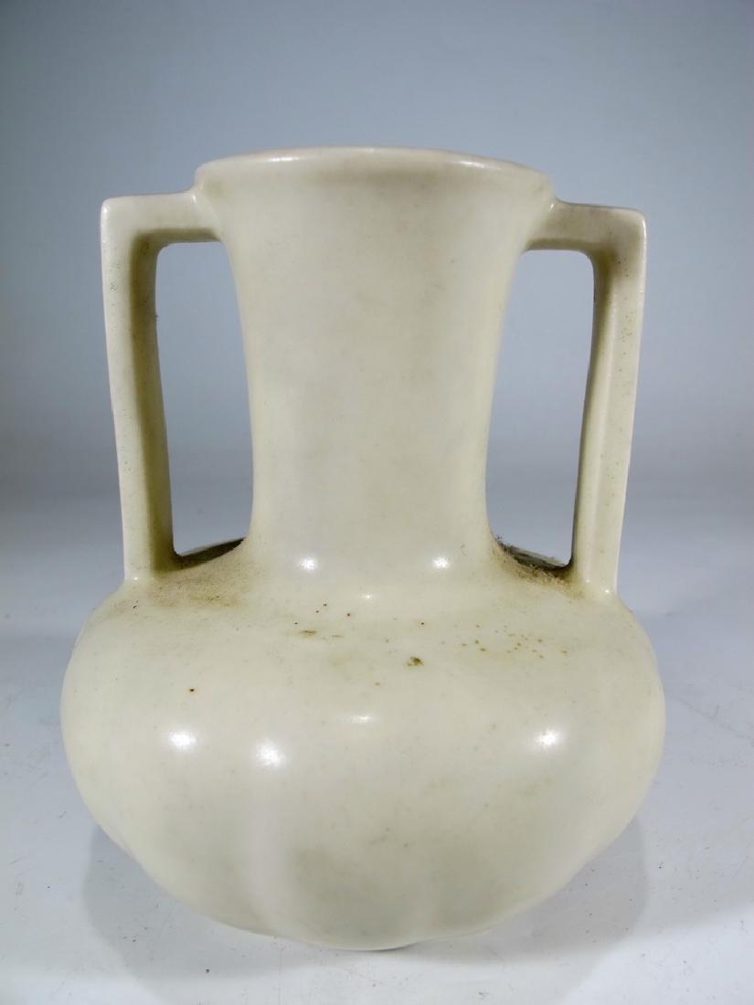 1934 white Rookwood pottery vase