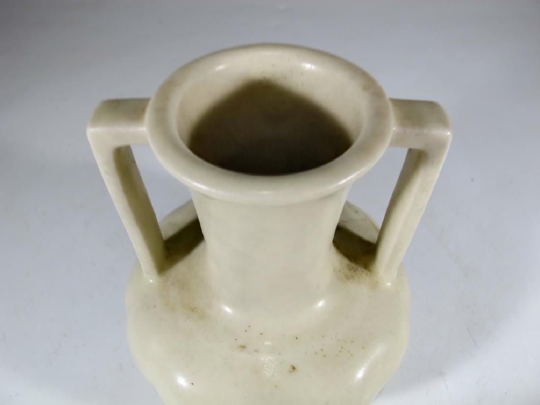 1934 white Rookwood pottery vase - 2