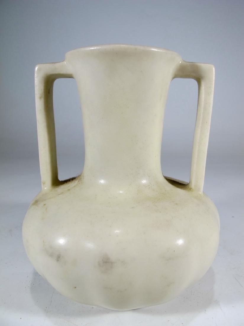 1934 white Rookwood pottery vase - 5