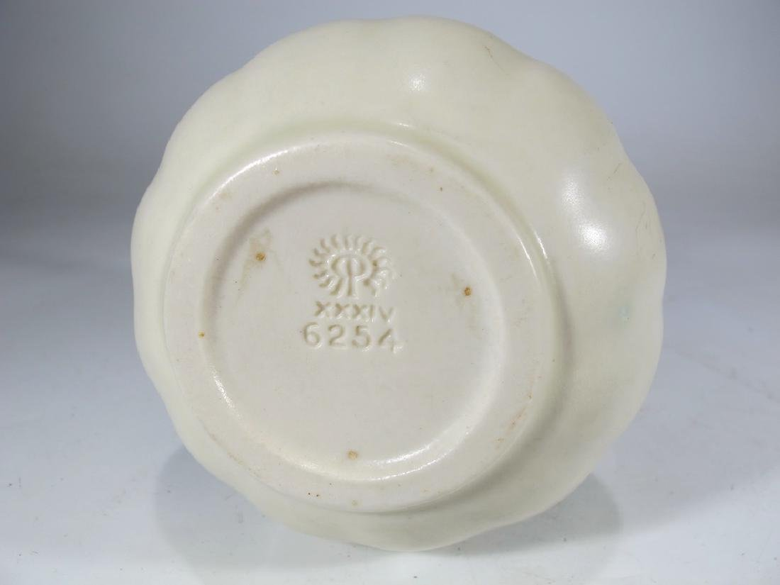 1934 white Rookwood pottery vase - 6
