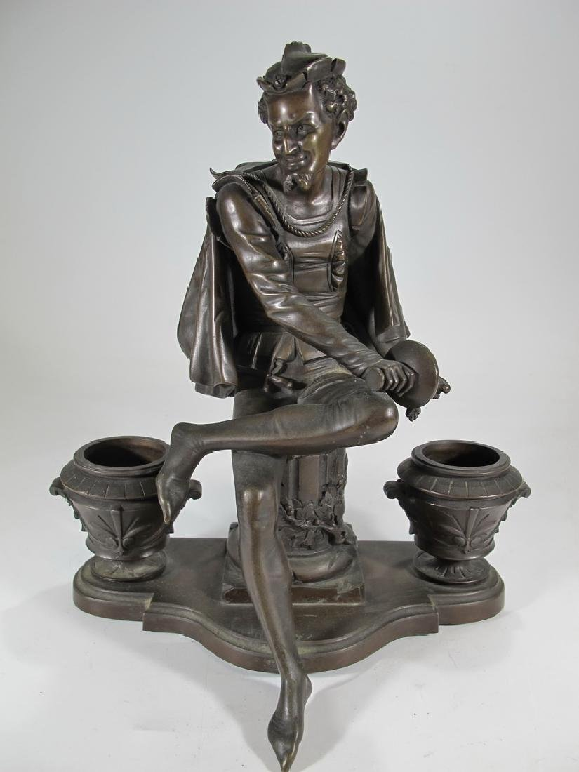 Signed Leblanc, 19 th C French bronze statue