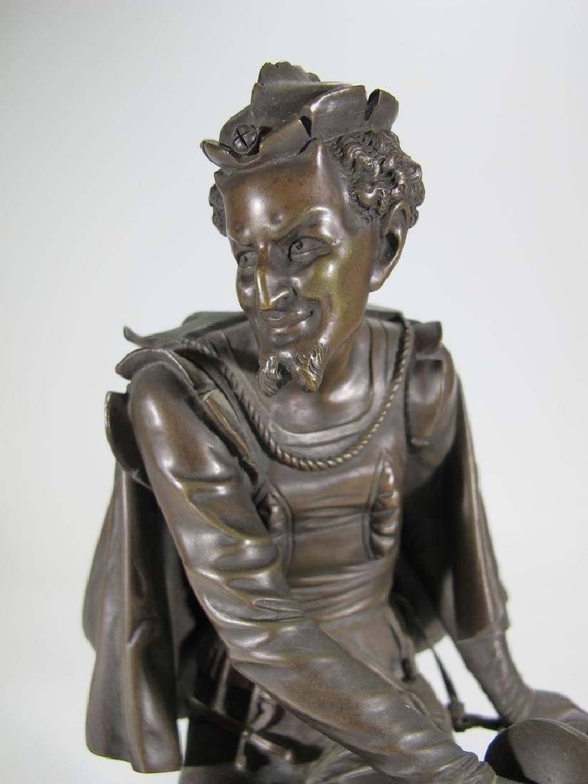 Signed Leblanc, 19 th C French bronze statue - 2