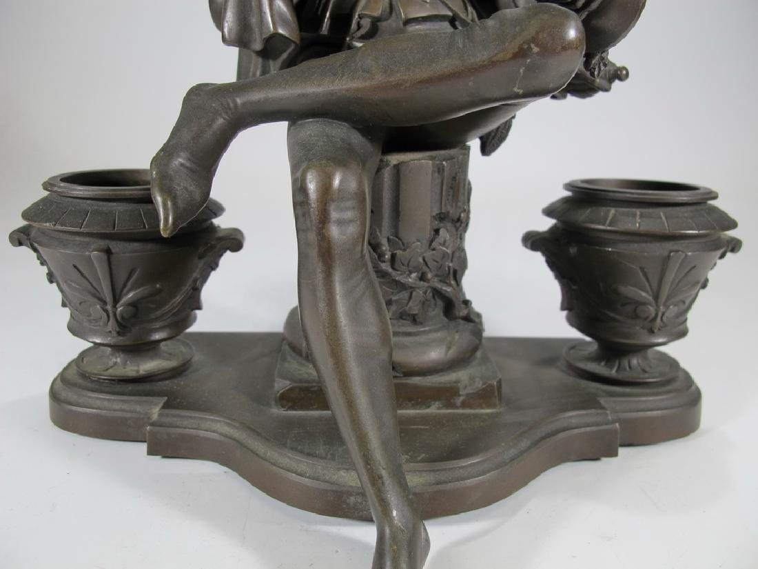 Signed Leblanc, 19 th C French bronze statue - 3