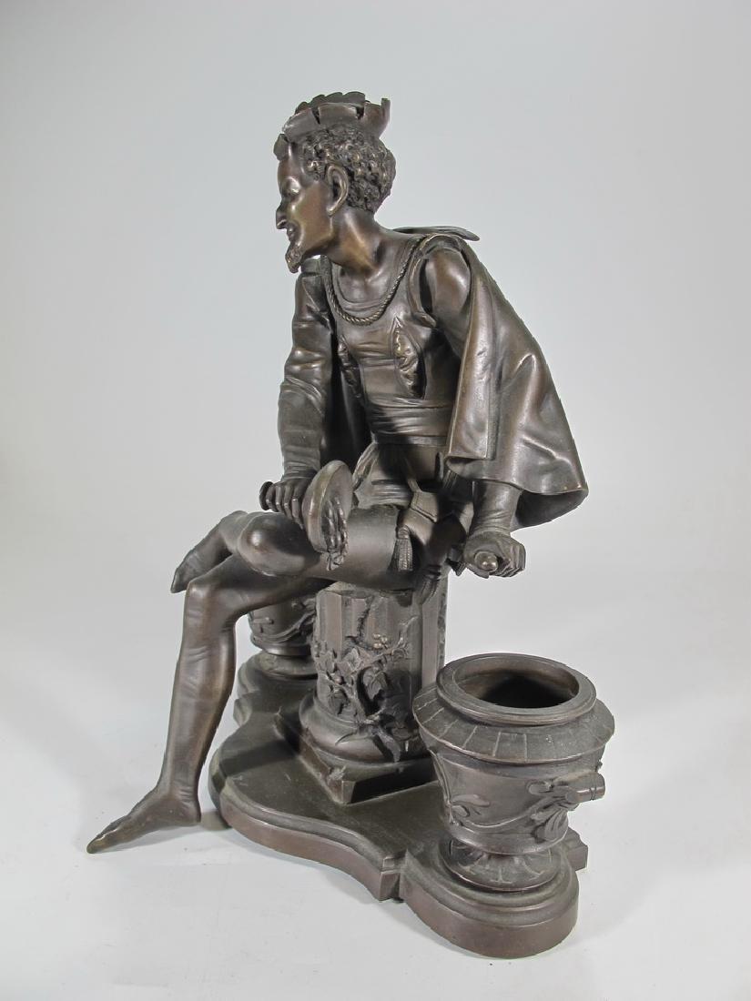 Signed Leblanc, 19 th C French bronze statue - 4