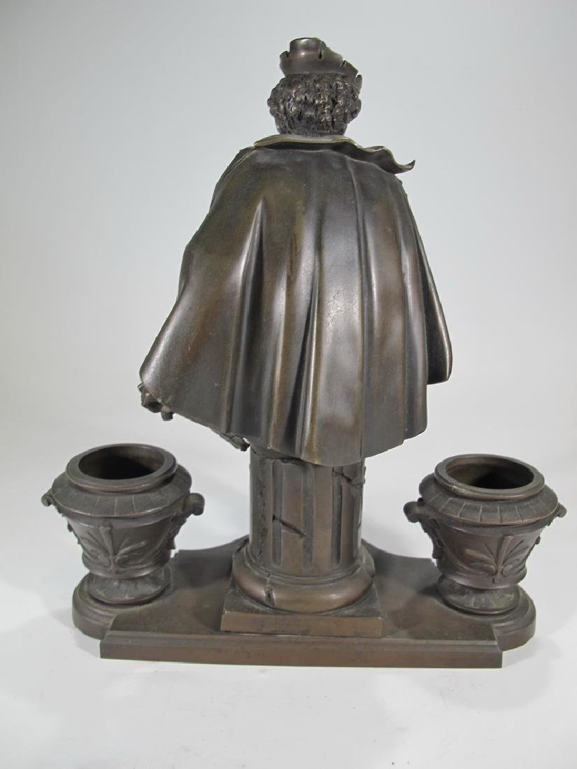 Signed Leblanc, 19 th C French bronze statue - 5