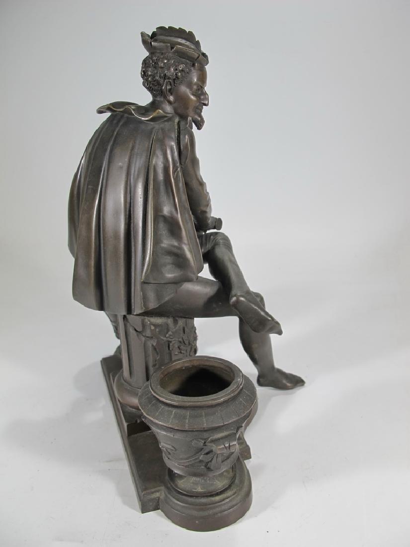 Signed Leblanc, 19 th C French bronze statue - 6