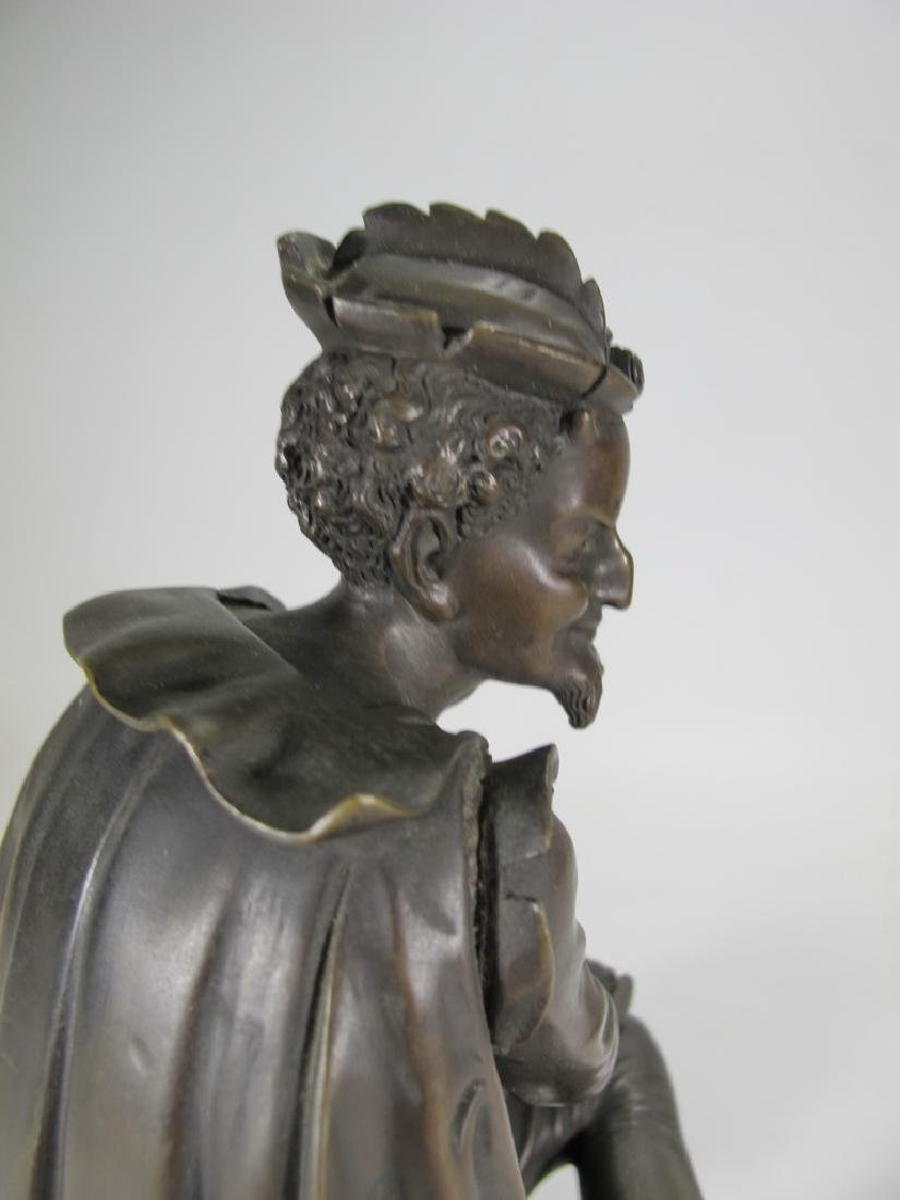 Signed Leblanc, 19 th C French bronze statue - 7