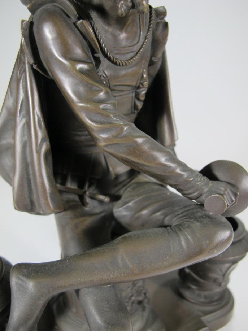 Signed Leblanc, 19 th C French bronze statue - 8