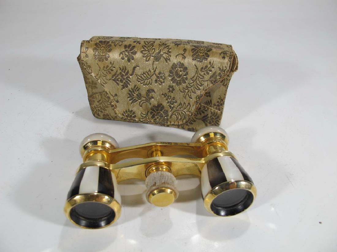Vintage golden & mother of pearl opera glasses