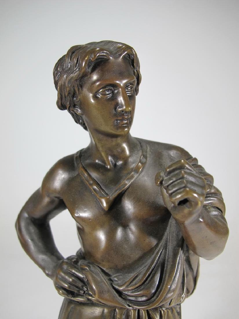 Antique French man bronze sculpture, unsigned - 2