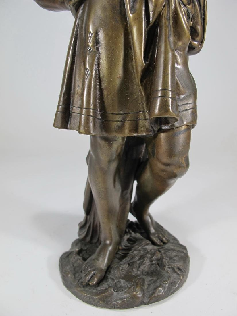 Antique French man bronze sculpture, unsigned - 3