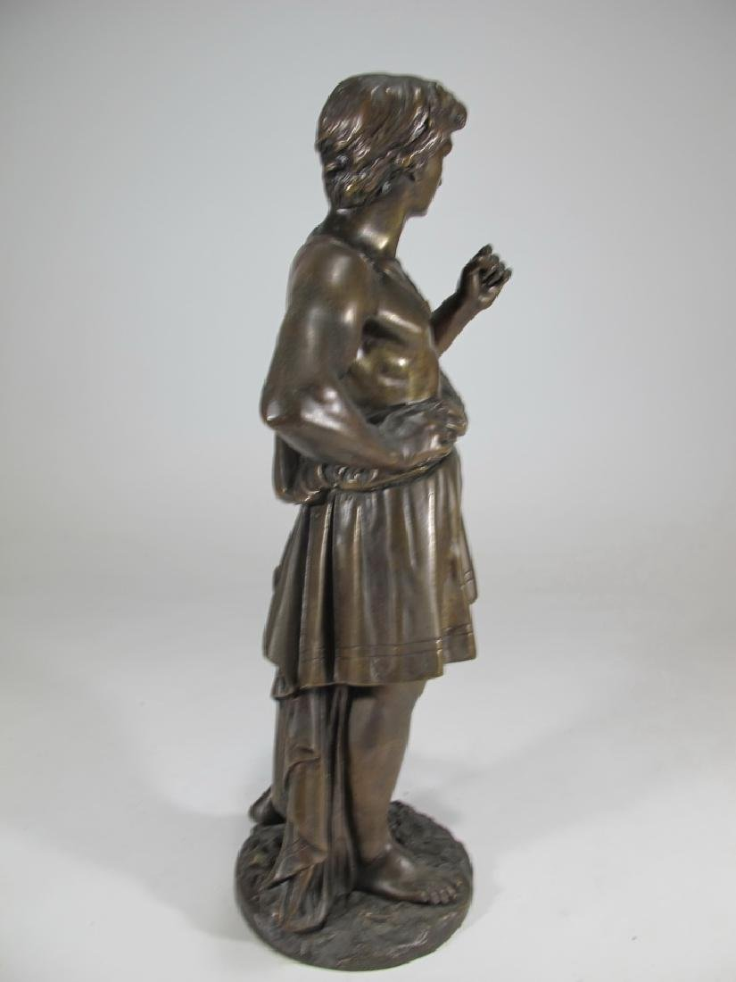 Antique French man bronze sculpture, unsigned - 6
